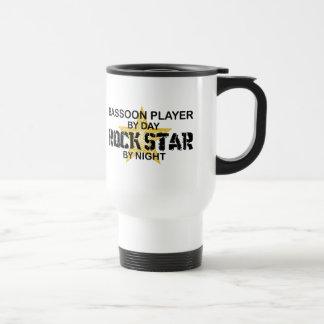 Bassoon-Spieler-Rockstar bis zum Nacht Reisebecher