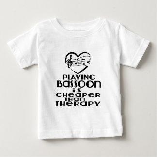 Bassoon zu spielen ist billiger als Therapie Baby T-shirt