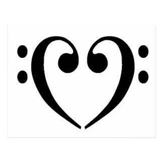 Bassschlüssel-Herz Postkarte