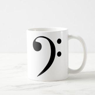 Bassschlüssel Kaffeetasse