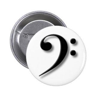 Bassschlüssel-Knopf Button