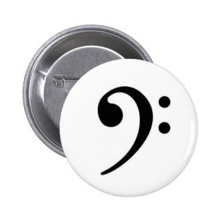 Bassschlüssel-Knopf Runder Button 5,1 Cm