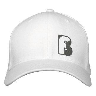 BASStard Fischen-Logo-Hut-Weiß Bestickte Baseballkappe
