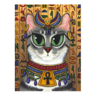 Bast-Göttin-Ägypter Bastet Katzen-Kunst-Postkarte Postkarte