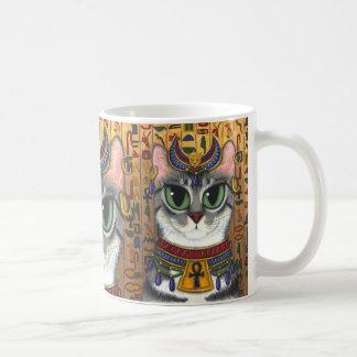 Bast-Göttin Bastet ägyptische Katzen-Kunst-Tasse Kaffeetasse