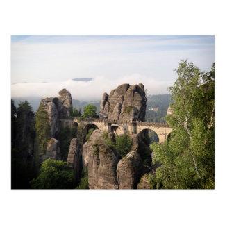 Bastei Brücke in sächsischer die Schweiz-Postkarte Postkarte