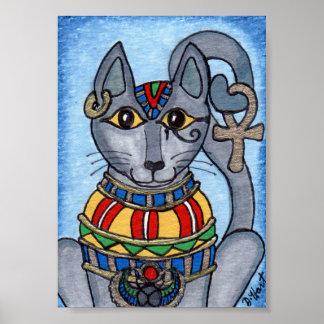 Bastet Eygptian Katzen-Göttin-MiniVolkskunst Poster