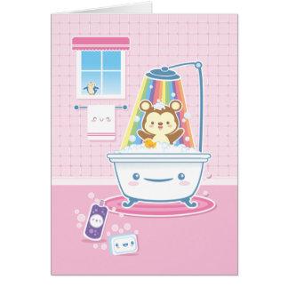 Bathtime Bärn-Gruß-Karte Grußkarte