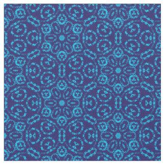 Batik-Art-blaues abstraktes Blumen Stoff