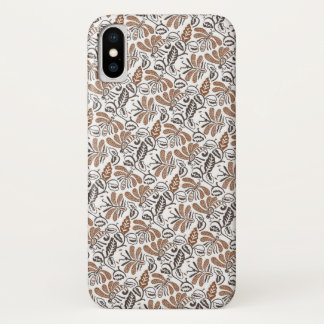 Batik Walang weißes Muster (Java-Muster) iPhone X Hülle