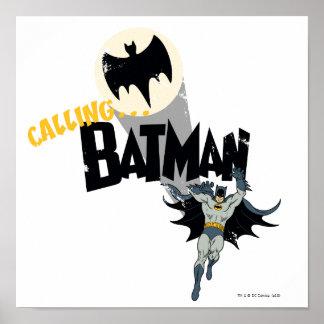 Batman anrufen Grafik Posterdruck