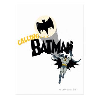 Batman anrufen Grafik Postkarten