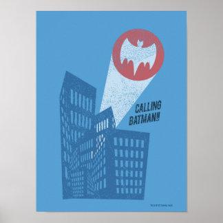 Batman anrufen Schläger-Symbol-Grafik Plakatdruck