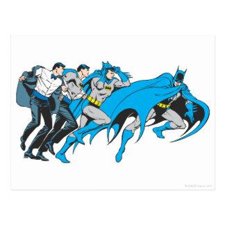 Batman/Bruce-Umwandlung Postkarten