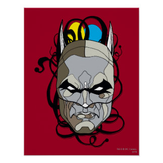 Batman-Buntglas-Stift u. Tinte Poster