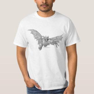 Batman, der 2 Lunging ist vorwärts, zeichnend T-Shirt