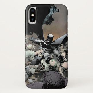 Batman, der Bogen-Feinde kämpft iPhone X Hülle