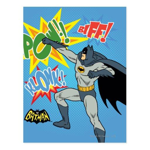Batman, der Grafik locht Postkarten