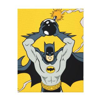 Batman, der mit Bombe läuft Leinwand Druck