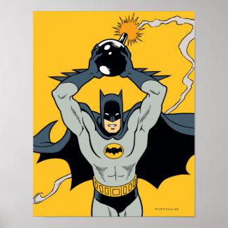 Batman, der mit Bombe läuft Poster