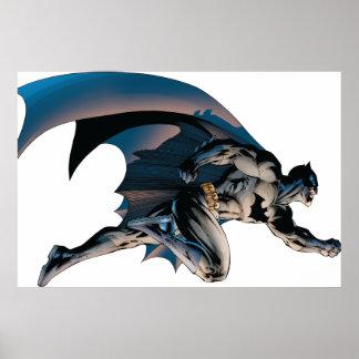Batman, der Seitenansicht springt Poster
