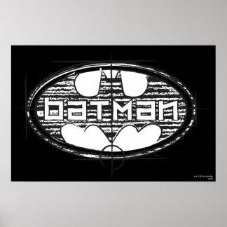 Batman-Entwurfs-Logo Plakat