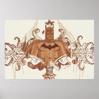 Batman-Fehlschlag mit Schnörkel Plakatdrucke