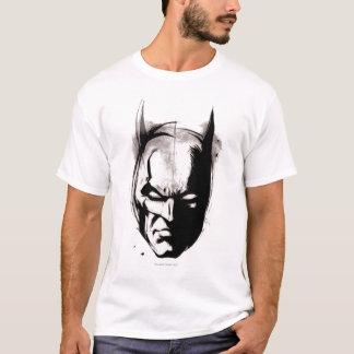 Batman gezeichnetes Gesicht T-Shirt