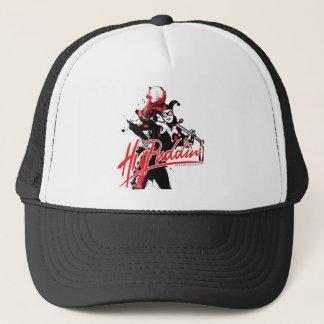 "Batman | Harley Quinn ""hallo Puddin'"" Tinten-Kunst Truckerkappe"