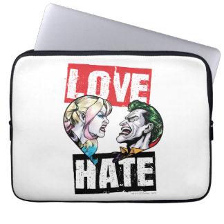 Batman | Harley Quinn u. Joker-Liebe/Hass Laptop Sleeve