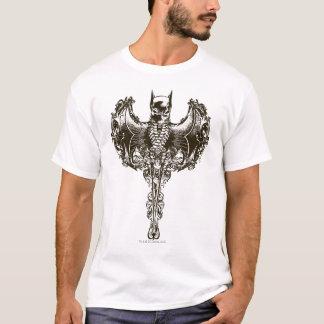 Batman-Hauben-und Schädel-Wappen T-Shirt