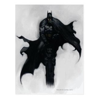 Batman-Illustration Postkarte