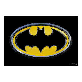 Batman-Klassiker-Logo Plakat