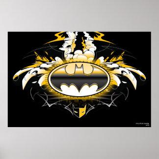 Batman-Logo mit Autos Plakat