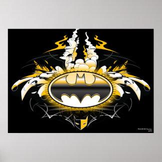 Batman-Logo mit Autos Poster
