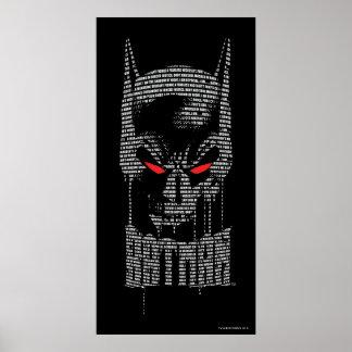 Batman mit Beschwörungsformel Poster