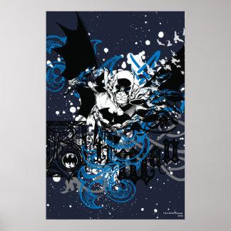 Batman mit Knüpfarbeit-Collage Poster
