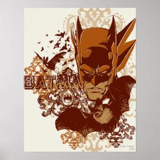 Batman mit Schläger-Collage Plakat