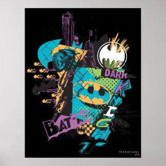 Batman-Neon die dunkle Ritter-Collage Poster