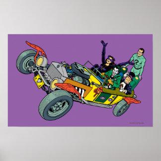 Batman-Schufte in Jokermobile Posterdrucke