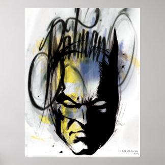 Batman-Spritzpistolen-Porträt Posterdruck