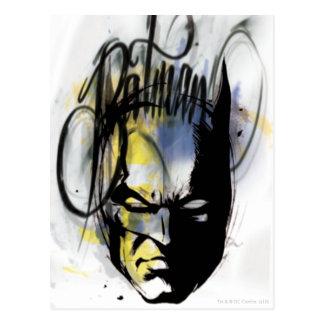 Batman-Spritzpistolen-Porträt Postkarte