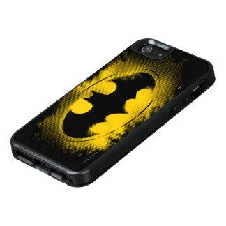 Batman-Symbol   schwarzes und gelbes Logo OtterBox iPhone 5/5s/SE Hülle