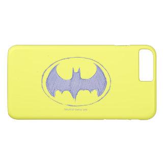 Batman-Symbol| Sketchbook-lila Logo iPhone 8 Plus/7 Plus Hülle