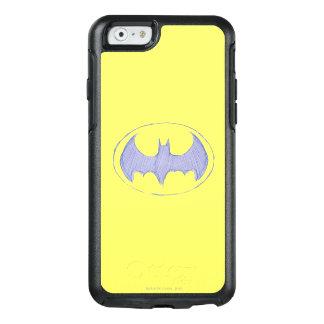 Batman-Symbol| Sketchbook-lila Logo OtterBox iPhone 6/6s Hülle