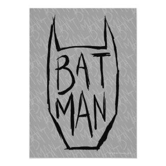 Batman tippen Kopf ein 12,7 X 17,8 Cm Einladungskarte