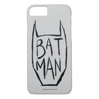 Batman tippen Kopf ein iPhone 8/7 Hülle