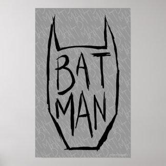 Batman tippen Kopf ein Plakate