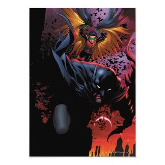 Batman u. Robin-Flug über Gotham 12,7 X 17,8 Cm Einladungskarte