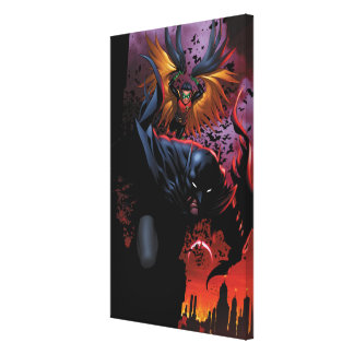 Batman u. Robin-Flug über Gotham Gespannte Galeriedrucke